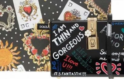 TK Maxx slammed for selling 'I am thin and gorgeous' Dolce and Gabbana bag