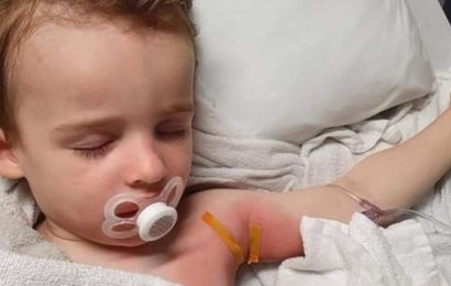 Boy, 2, suffers chemical burn after Fairy washing tablet gets stuck to clothes