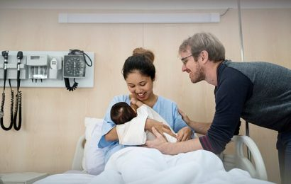 Mothers debate whether partners should stay on maternity wards