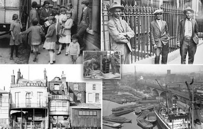 Photos reveal how east London docks went from slums to luxury flats