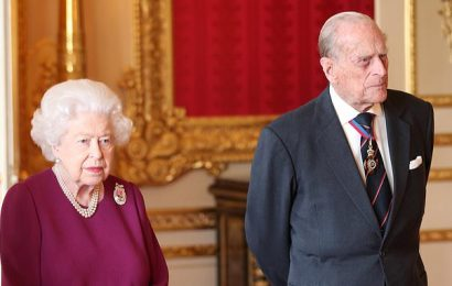 Queen is seen with Prince Philip for first time since car accident