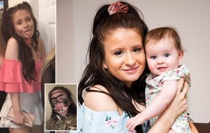 Size six student stunned when she went into labour with surprise baby