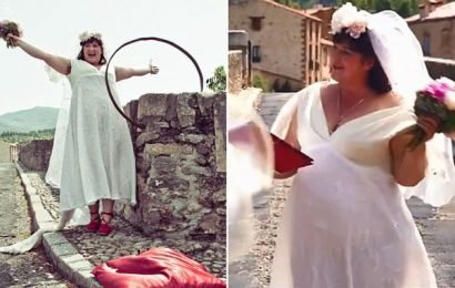 Australian woman who married a bridge relives her 'wedding day'