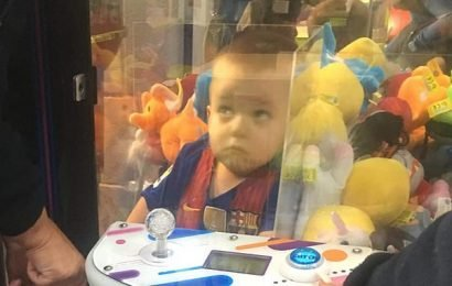 Boy, 3, stuck INSIDE arcade machine after climbing in to grab teddy