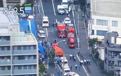 Eight children are among 16 people stabbed in attack near Tokyo