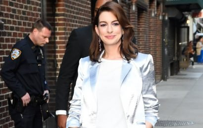 Anne Hathaway Shared the Reason Why She Repeated This Pantsuit, and We Love Her For It