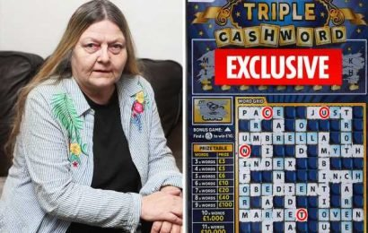 Great-gran can't believe her eyes when Lotto scratchcard spells out the C-word