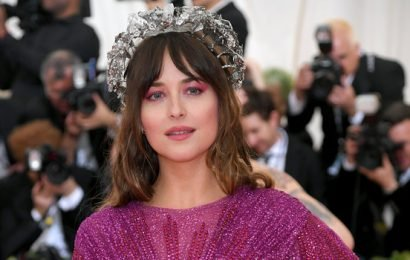 Here's Why Dakota Johnson Is Wearing a Bloody Heart Dress at the Met Gala