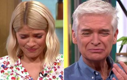 Holly Willoughby and Phillip Schofield gag as they swallow a lump of Vitamin C that looks like 'orange snot' during beauty segment on This Morning