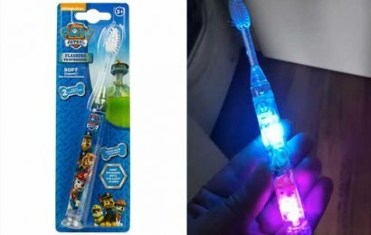 The Range is selling a flashing children's toothbrush that turns off when it's time for your kid to stop brushing their teeth