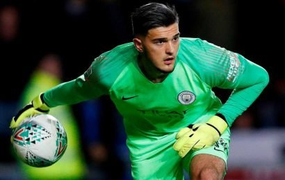 Who is Arijanet Muric and what country is the Man City reserve goalkeeper from?