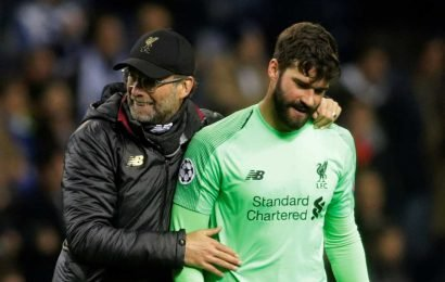 Alisson defied boss Klopp's orders at end of Liverpool hammering by Barcelona, claims Steve McManaman
