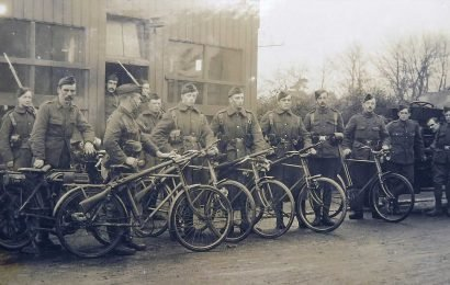 Remarkable archive photos of short-lived World War One cyclist battalion who pedalled around British coast watching for German invaders