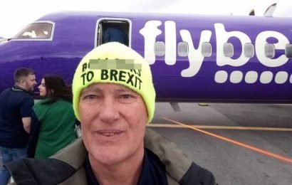 Remainer moans after Flybe told him to remove his 'b******s to Brexit' hat before boarding flight