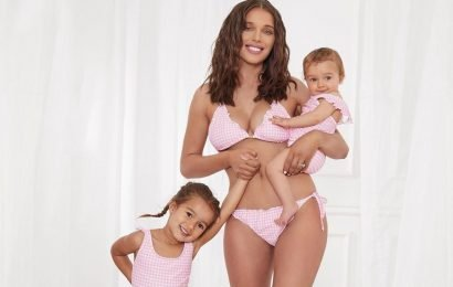 Helen Flanagan shows off her figure in lingerie as she poses with her two adorable daughters