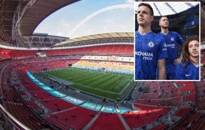 Chelsea's new kit includes so many Stamford Bridge images as club believed they would be playing at Wembley next season