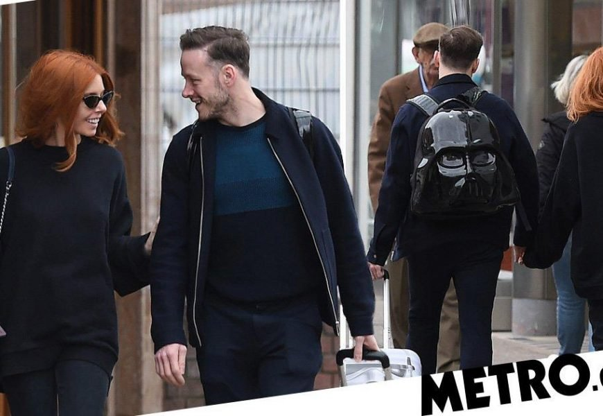 Stacey Dooley and Kevin Clifton pictured holding hands as romance heats up