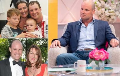 Emotional Andrew Strauss reveals how wife wanted to 'do death well' by preparing their two sons as she battled rare lung cancer