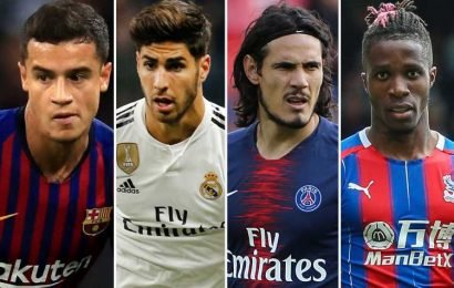 Chelsea will break the bank for Cavani, Asensio, Zaha and Coutinho if they lose Hazard and miraculously escape transfer ban