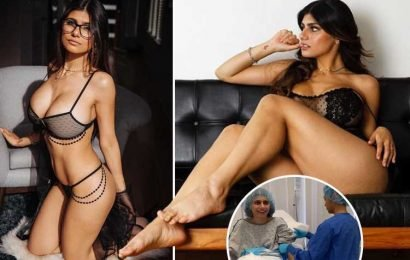 Pornhub legend Mia Khalifa shares video footage from surgery as breast 'exploded' after being hit by stray hockey puck