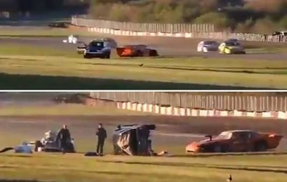 Motorsport race worker killed in horror 110mph crash after car loses control and spins off track