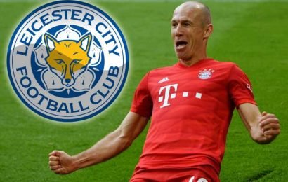 Leicester shock favourites to sign Arjen Robben aged 35 after he leaves Bayern Munich