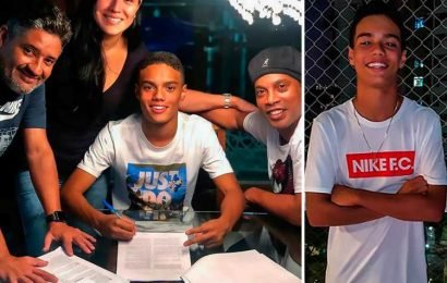Brazil legend Ronaldinho's 14-year-old son signs first pro contract with Nike who also sponsored dad during career