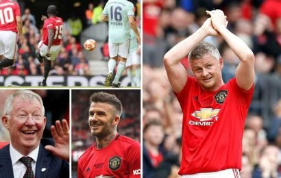 Ole Gunnar Solskjaer, Dwight Yorke and David Beckham score as Man Utd celebrate Treble of '99 anniversary with win over Bayern Munich