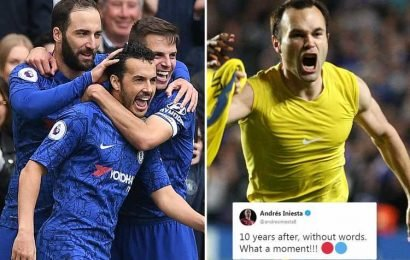 As Chelsea return to Champions League, Iniesta reminds them of heartbreaking moment his wonder goal eliminated them