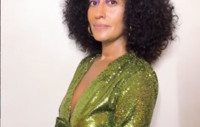 Tracee Ellis Ross' Negative Space Eyeshadow Is Positively Stunning