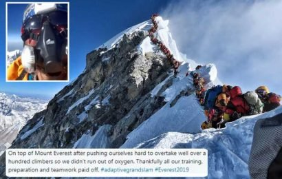 Brit Mount Everest climber forced to push past 100 people to survive as oxygen ran out in massive queue at summit