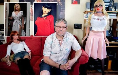 Retired psychiatric nurse says photo shoots with his harem of 12 sex dolls helped heal his loneliness