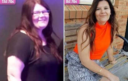Junk food addict who lost 5 stone WITHOUT exercising says she looks 10 years younger