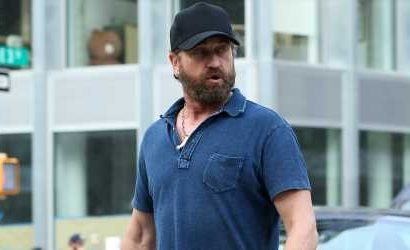 Gerard Butler Looks Handsome While Out & About in New York City