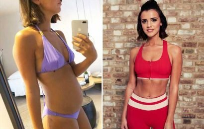 Lucy Mecklenburgh shares pictures of her bloated stomach as she reveals she's suffered every night for 10 years