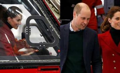Duchess Kate Middleton Tests Out a Search & Rescue Helicopter After New Nephew's Photo Debut!