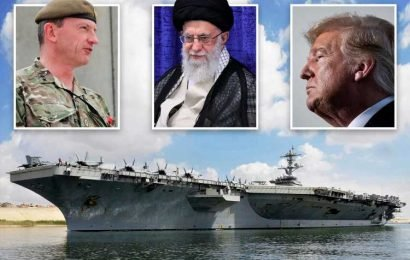 Britain and Pentagon clash over Iran threat as Brit general rubbishes US warnings of 'planned attack' amid evacuation panic