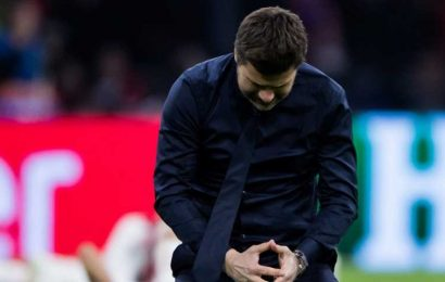 Mauricio Pochettino broke down in tears and said 'thank you football' after watching Tottenham Hotspur advance to the Champions League final