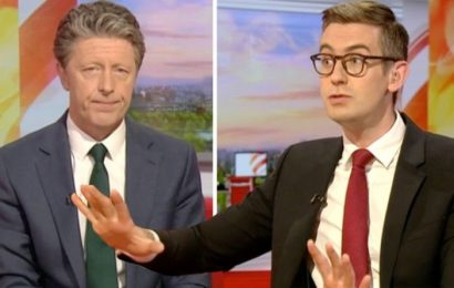 BBC News: Charlie Stayt SCOLDED for cheeky swipe at co-star 'What a low blow'