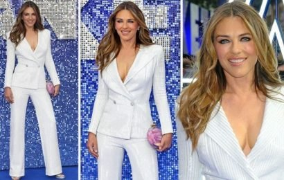 Liz Hurley flashes assets as she goes BRALESS at Rocketman premiere – PICTURES