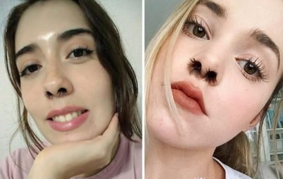 Women give themselves NOSE hair extensions in bonkers beauty trend
