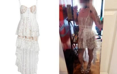 Bride compared to a 'pirate hooker' after buying see-through wedding dress