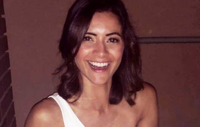 GMB babe Lucy Verasamy flaunts killer curves as she unzips skintight jumpsuit
