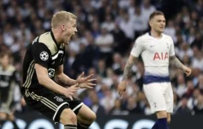 Ajax beat Tottenham 1-0 in first leg of UCL semifinal