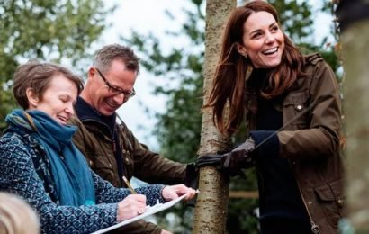 Kensington Palace release unseen photos of Kate Middleton working on designs for her highly-anticipated Chelsea Flower Show garden