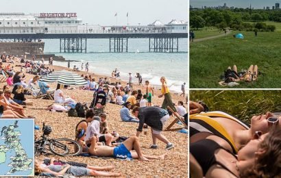 Britain basks in temperatures of 77F before thunderstorms and rain