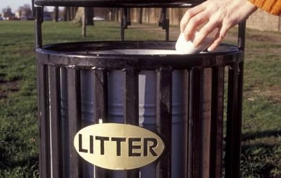 Council bosses to fine people throwing their rubbish in a public bin