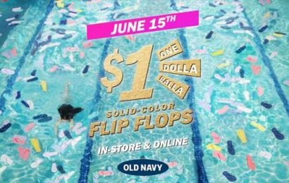 Old Navy's $1 Dolla Balla Flip Flop Sale 2019 Is Back & Better Than Ever