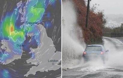 UK weather forecast – Severe rain, flood warning in Northern Ireland in week-long washout