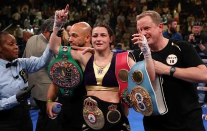 Lucky Katie Taylor unifies world titles with majority decision win leaving 'robbed' in floods of tears